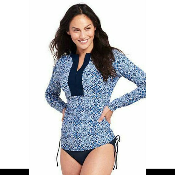 47093aebd882c Lands  End Other - Lands  End Adjustable Swim Rash Guard ...